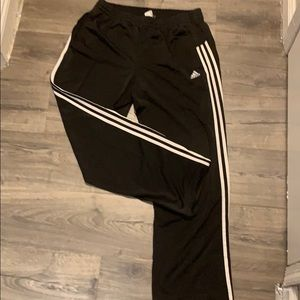 Adidas black and white pinstriped Mens M Joggers